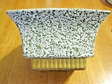 "SHAWNEE ~ POTTERY PLANTER ~ #1805, GREEN/IVORY SPATTERS, 6¼"" SQUARE, EUC"