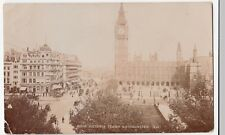 London; Victoria Tower, Westminster RP PPC, 1907 PMK By Photochrom
