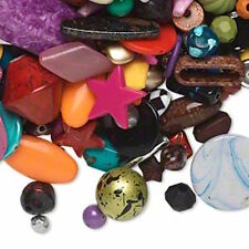BEAD MIX BULK, multicolored acrylic beads, mixed shapes. 900 grams