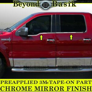 2006-2008 Lincoln Mark LT Crew Cab Chrome Window Sill Trims Covers Belt Line