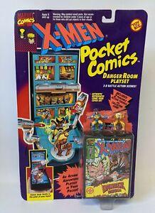 Vintage 1994 Toy Biz Marvel X-MEN Pocket Comics DANGER ROOM PLAYSET, SEALED!