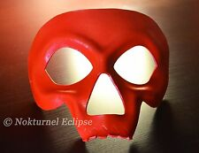 Red Skull Leather Mask Masquerade Party Horror Cosplay Day of The Dead UNISEX