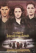 "TWILIGHT MOVIE ""BREAKING DAWN PART 2 TRIO"" POSTER - Stewart, Pattinson & Lautner"