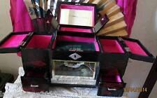 COIFFEUSE BOITE A BIJOUX MIROIRS MUSIQUE TIROIRS  BOIS LAQUE CHINE 1920JEWEL BOX