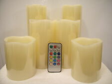 6 CANDLE REMOTE CONTROLLED MULTIPLE COLORED DISPLAY CANDLE SET