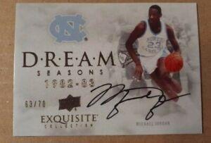 Michael Jordan 2012 13 UD Exquisite Collection Dream Seasons Auto **REPRINT**