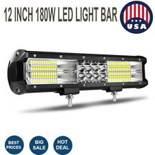 12Inch 180W LED Light Bar Spot Flood Truck Lights fit Offroad ATV 4WD ty36