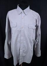HARLEY DAVIDSON Gray Outdoors Motorcycle Button Up Mechanics Shirt Mens XL
