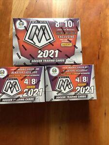 🔥 2020-21 Panini Mosaic SOCCER LOT UEFA Euro 1 MEGA BOX & 2 BLASTER BOXES 🔥