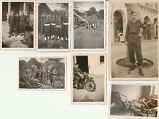 Photos Militaire (lot de 7) Zeralda Algerie 1er RTA 1949