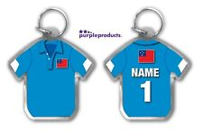Personalised SAMOA Rugby Team Supporters Jersey Shirt Keyring
