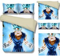 Dragon Ball Z Son Goku Character 3D Bedding Set Sheet Quilt Cover Pillowcase New