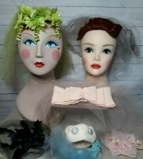 New listing Vintage Headpieces Hats Tulle Netting Lot
