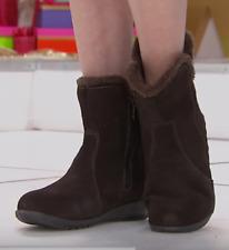Sporto Karmen, waterproof women's suede boots, Chocolate 6M