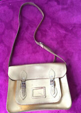 THE CAMBRIDGE SATCHEL COMPANY 100% LEATHER GOLD BIG SATCHEL BAG ♡♡♡