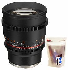 Samyang 85mm T1.5 Cine VDSLR II Version 2 Telephoto Lens for Sony