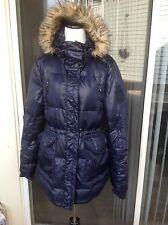 NEW$385 Women's Blue Ralph Lauren Long Down Winter Coat with a Hood- size L