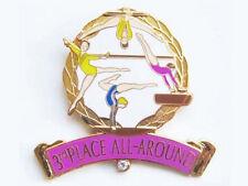3rd Place All Around Gymnast Gymnastics Award Lapel Pin - Great Job!