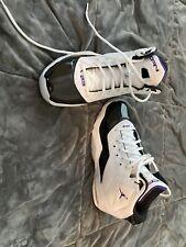 Men's Jordan Shoes Size 8 Euc White Black Purple