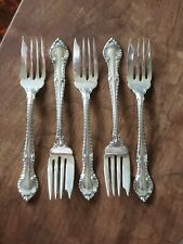 Set of 5 Vintage GORHAM Sterling Silver ENGLISH GADROON Salad  Forks NO MONOS