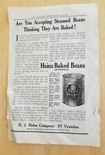 Vintage H.J. HEINZ  Company BAKED BEANS/COUPON old AD advertisement  Coupon Bond