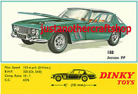 Dinky Toys 188 Jensen FF Large A3 Size Poster Advert Sign Leaflet from 1968