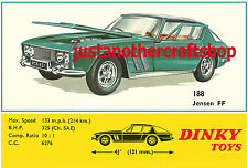 Dinky Toys 188 Jensen FF Large Size Poster Advert Sign Leaflet from 1968