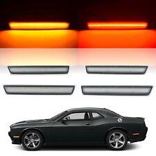 Clear Front & Rear LED Side Marker Light Lenses For 2015-2018 Dodge Challenger