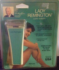 Lady Remington cord shaver NEW diamond blade USA made aqua WER-4100 & travelcase