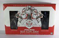 Rare Original Star Wars JEDI-CON 2004 Clone Trooper & Battle Droid Hasbro