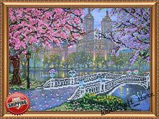"Bead Embroidery Kit ""Spring bloom"" New Diy Needlepoint Beading Beadwork Decor"