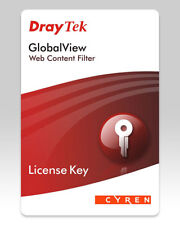 DRAYTEK GLOBALVIEW WEB CONTENT FILTER LICENSE KEY FOR WCF-A CARD - SMALL OFFICE