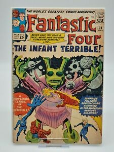Fantastic Four #24 The Infant Terrible Silver Age KEY FREE SHIPPING Marvel