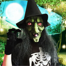 Halloween Horror Witch Mask Room Escape Latex Terror Mask Full Head Cosplay Mask