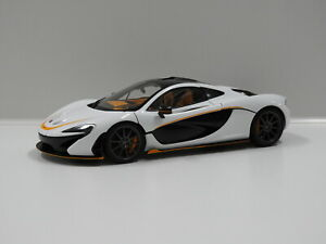 1:18 McLaren P1 (Alaskan Diamond White/Accent) Auto Art 76064