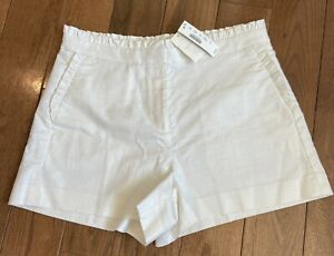 NWT Women's J Crew Shorts White Ruffles Sz 10 $54