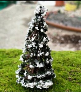 Miniature Dolls House Accessories Snowy Christmas Tree 1:12th scale size