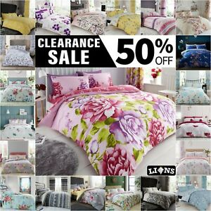 FLORAL DUVET COVER WITH PILLOW CASE Quilt Covers Bedding Set Single Double King