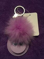 Kate Spade Purple Monster Pom Pom /mirror Key Chain Ring Fob charm NWT Free Sh