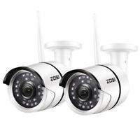 ZOSI 2 PCS Outdoor Wireless IP Camera HD 1080p Onvif Security WIFI Camera System