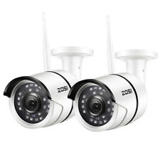 ZOSI 2 PCS Outdoor Wireless IP Camera HD 1080p Onvif Security WIFI Camera System