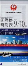 Japan Airlines Timetable  September 1, 2017 =