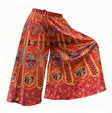 INDIAN HANDMADE COTTON HAREM PLAZO YOGA MEN WOMEN TROUSER BAGGY GYPSY BOHO_2