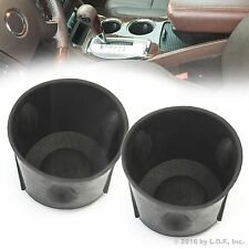 2pc 07-16 GMC Acadia 09-16 Chevrolet Traverse Black Rubber Cup Holder Insert 2