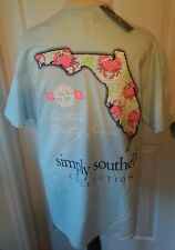 "NWT Simply Southern ""Southern Part of Heaven"" Florida Womens Sz. Large T-Shirt"