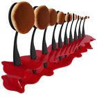 10 pièces Brosse à dents élite Ovale Maquillage Brosses Set Poudre Fond De Teint