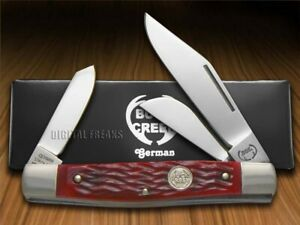 Buck Creek Large Diamondback Stockman Knife Red Bone German Pocket BC-659 RBP
