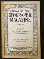 1913-08 AUGUST NATIONAL GEOGRAPHIC: MONT BLANC, FRANCE-ITALY-SWITZERLAND