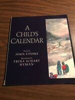 A Childs Calender Poems By John Updike paperback Book