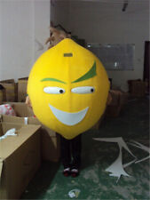 Adult Unisex Lemon Fruit Mascot Costume Suit Cosplay Party Game Dress Outfit